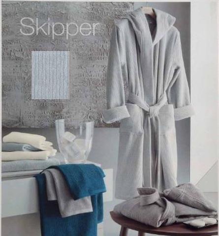 Элитный халат махровый Skipper серый от Svad Dondi