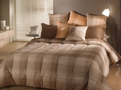 Постельное белье 1.5 спальное Caleffi Regent коричневое