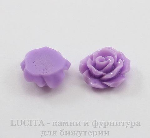 """Кабошон акриловый """"Роза"""", цвет - фиолетовый, 10 мм, 5 штук"""