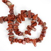 Бусина Яшма Красная, крошка, 7-20 мм, нить 88-90 см