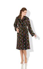 Элитный халат шенилловый Fatima Colette 10 schwarz от Feiler