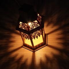 Деревянная новогодняя фигура «Деревянный фонарь» (Feron)