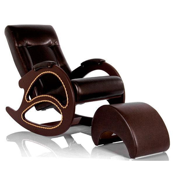 Деревянные Кресло-качалка Модель 4 Экокожа с банкеткой 013.004.1.JPG