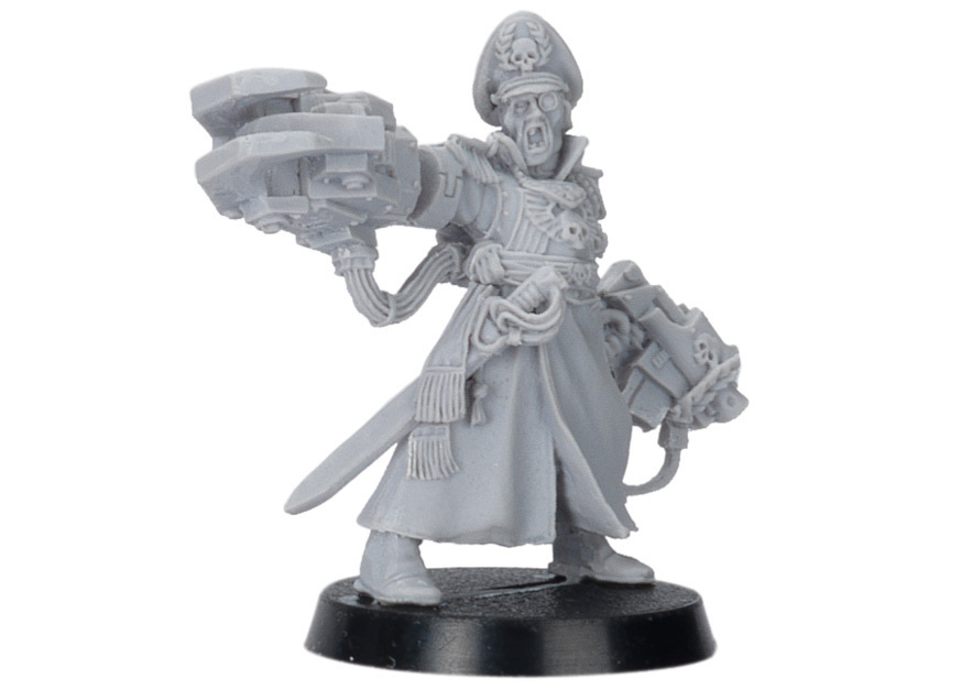 Commissar Yarrick. Неокрашенная фигурка