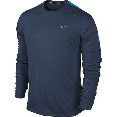 Футболка Nike Racer LS /Рубашка беговая тёмно-синяя