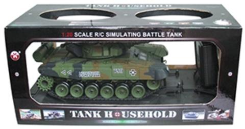 Радиоуправляемый танк HouseHold M1A2 Abrams (стрельба, звук, детализация) (1:20) (код: YH4101B-6)