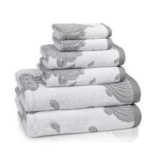 Полотенце 46х71 Kassatex Roma Tile Grey белое