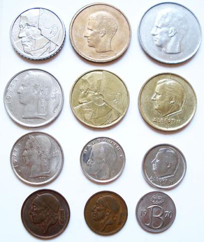 Монеты Бельгии (франц. яз.)