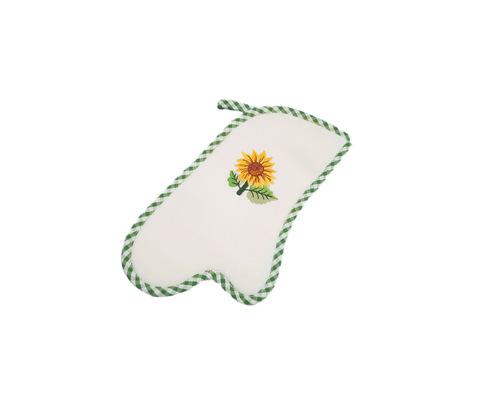 Прихватка-варежка Girasoli с зелёным кантом от Old Florence