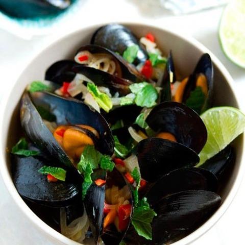 Мидии потайски  кулинарный пошаговый рецепт с фото на