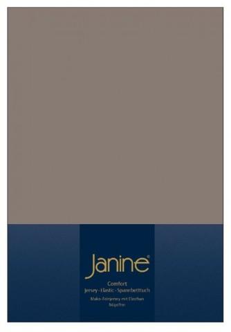Элитная простыня на резинке Elastic-Jersey 5002 кофейно-серая от Janine