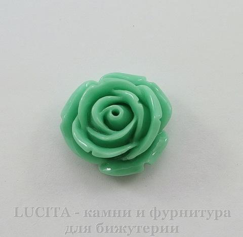 """Кабошон акриловый """"Роза"""", цвет - мятный, 18 мм"""
