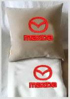 Плед в чехле с логотипом Mazda