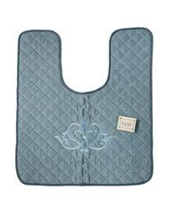 Элитный коврик для унитаза Ванити голубой от Old Florence