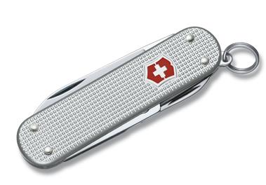 Нож-брелок Victorinox Classic Alox, 58 мм, 5 функ, серебристый  (0.6221.26)
