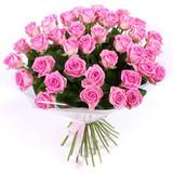 Букет из 51 розовой розы/ 60 см.