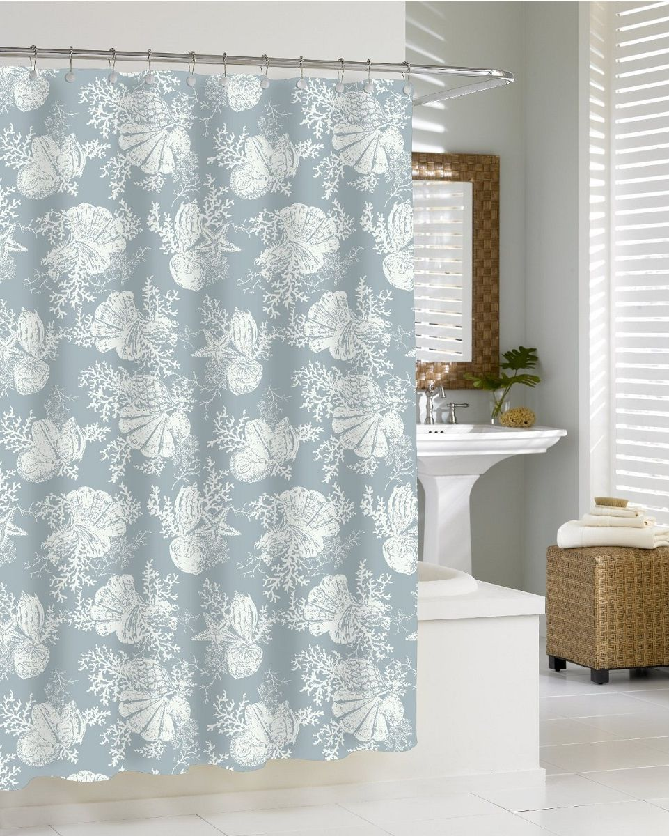 Элитная шторка для ванной Shells Seamist от Kassatex