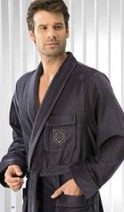 Элитный халат велюровый мужской 3799 антрацит от Cawo