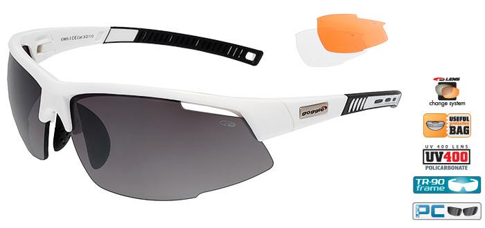 Спортивные очки goggle FALCON white/black