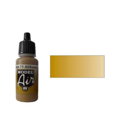 025 Краска Model Air Желтый темный (Dark Yellow) укрывистый, 17мл