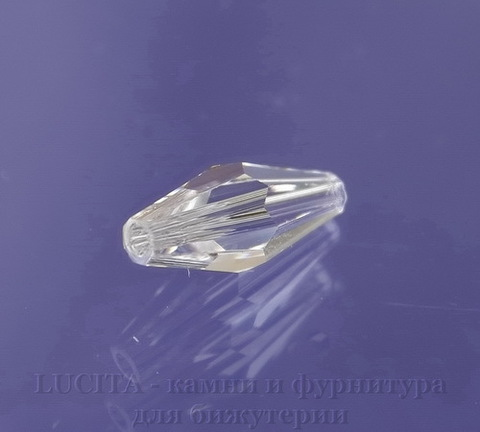 5205 Бусина - биконус вытянутый Сваровски Crystal 15х6 мм