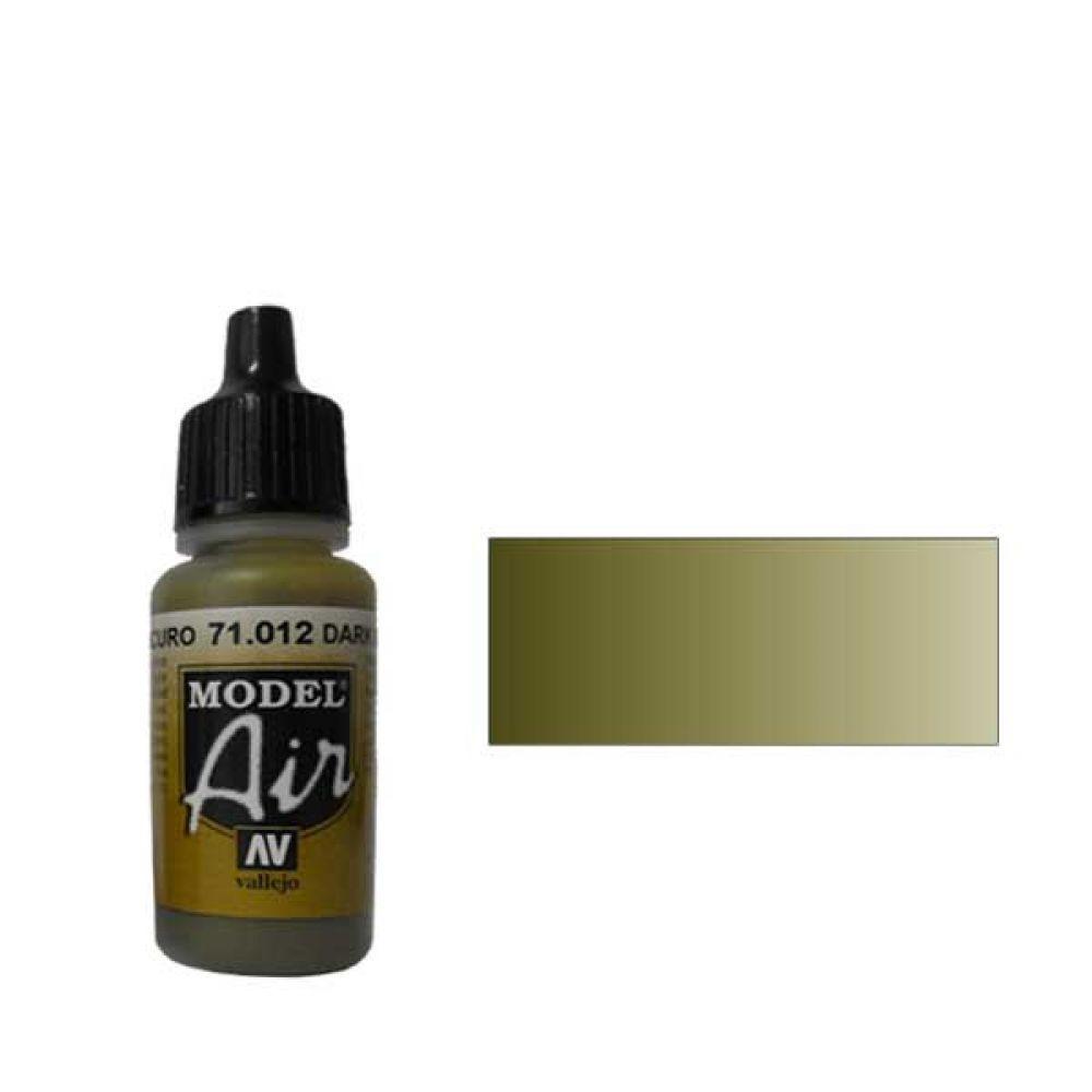 012 Краска Model Air Темно-зеленый (Dark Green) укрывистый, 17мл