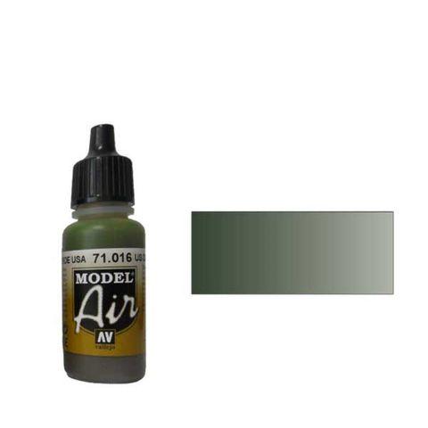 016 Краска Model Air Оливковый тусклый  (USAF OLIVE DRAB) укрывистый, 17мл