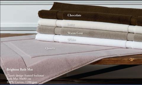 Элитный коврик для ванной махровый Brighton шоколадный от Casual Avenue