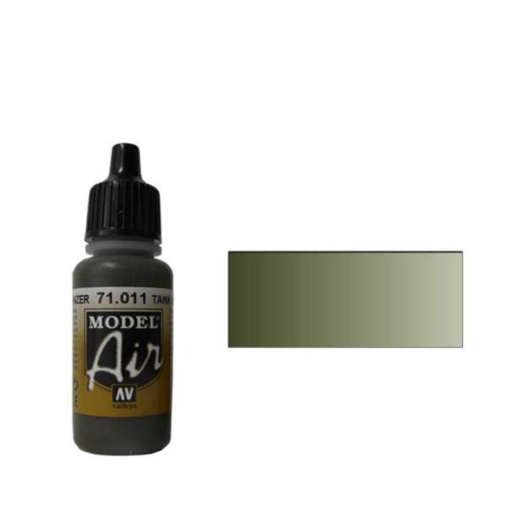 011 Краска Model Air Темно- зеленый  (Dark Green RLM83) укрывистый, 17мл