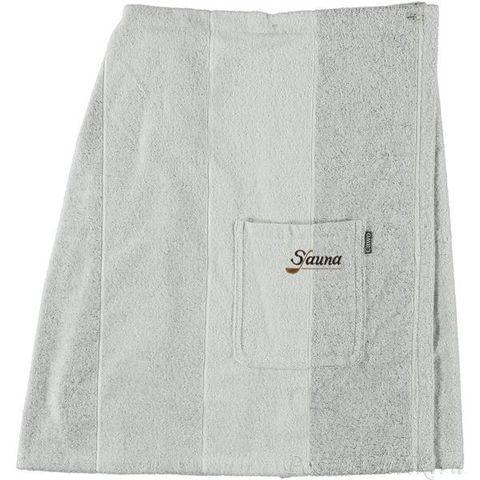Элитный халат-юбка для сауны Sauna 9065 серый от Cawo