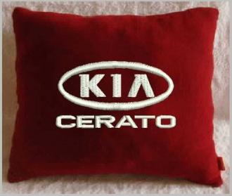 Подушка автомобильная с логотипом KIA