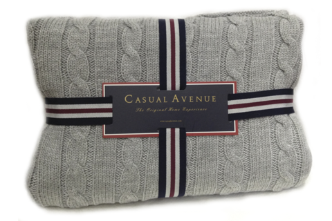Плед 130х170 Boston от Casual Avenue серый