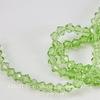 Бусина стеклянная, биконус, цвет - светло-зеленый, 4 мм, нить