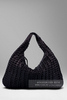 Bottega Veneta плетеная черная сумка Sculptured Tote A Woven Bag With A Twist