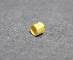 Кримпы - зажимные бусины - трубочки 1,5-1,8 мм (цвет - золото), 2 гр (примерно 300 штук)
