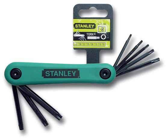 Набор из 8-ми торцевых складных ключей  Torx   Stanley 4-69-263