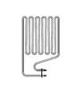 ТЭН Harvia - тэн харвия 2500W ZSP-250 (ZSP250) L=4480mm - нагревательный элемент для печи сауны, см. HTS013HR