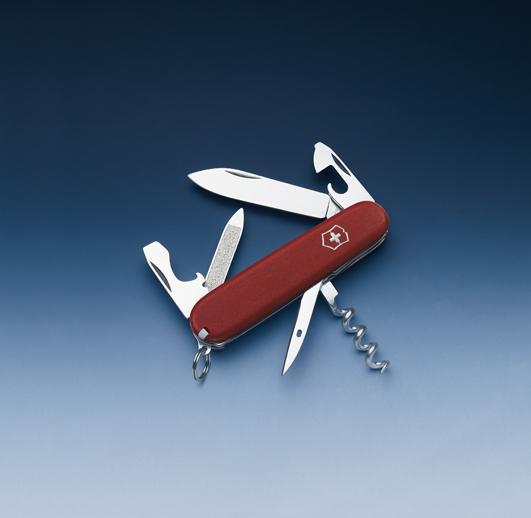 Швейцарский нож Victorinox EcoLine, 84 мм, 13 функ, красный матовый  (2.3803)