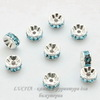 77506 Бусина - рондель Сваровски Aquamarine (цвет - серебро) 6х3 мм ()
