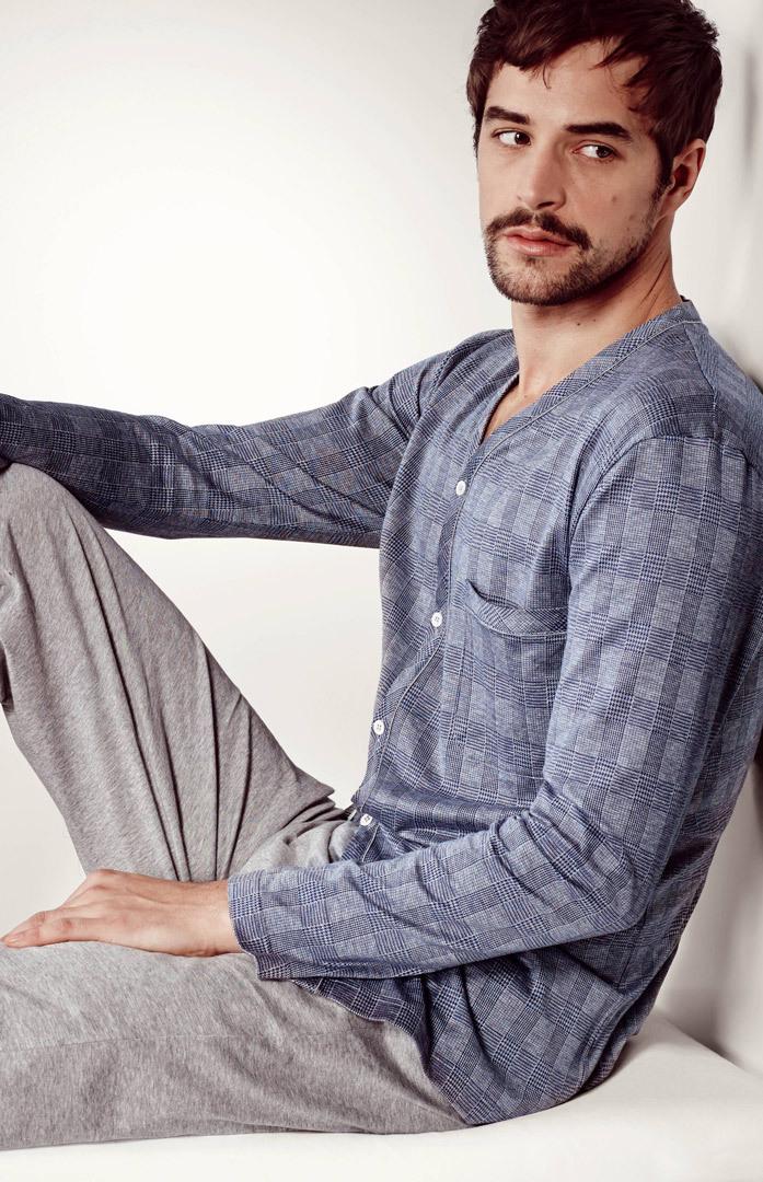 Мужской домашний костюм на пуговицах Zimmerli (Домашние костюмы и пижамы)