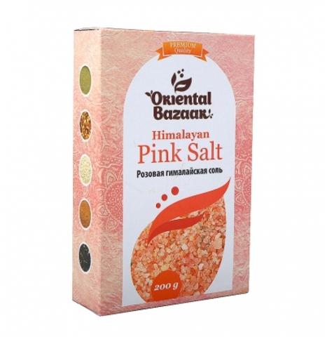 Розовая гималайская соль  Oriental Bazaar / Pink Salt, 200 г