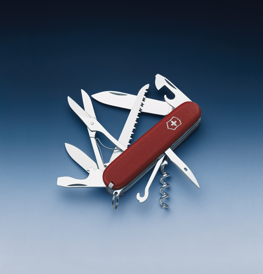 Швейцарский нож Victorinox EcoLine, 91 мм, 15 функ, красный матовый  (3.3713)