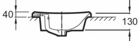 Jacob Delafon Escale Раковина на столешницу 60x44,5 см (E1289)