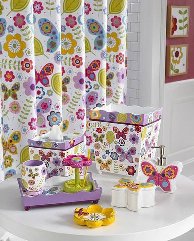 Элитная шторка для ванной детская Butterflies от Kassatex