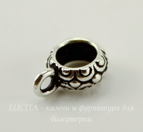 "Бейл TierraCast ""Оазис"" 14х5 мм (цвет-античное серебро)"