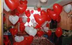 Украшение комнаты шарами на день святого валентина