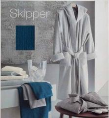 Элитный халат махровый Skipper синий от Svad Dondi