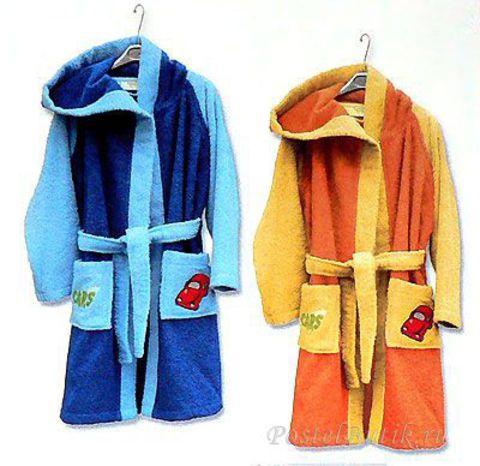 Элитный халат детский Cars City от Caleffi