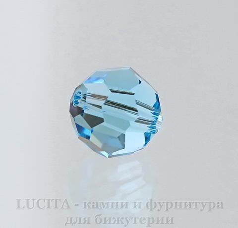 5000 Бусина - шарик с огранкой Сваровски Aquamarine 10 мм