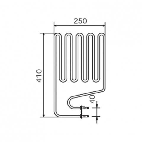 ТЭН Harvia - тэн харвия 2000W ZSS-120 (ZSS120) L=4110mm - нагревательный элемент для печи сауны, см. HTS009HR